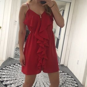 Alya Francesca's red flow zip up dress size medium